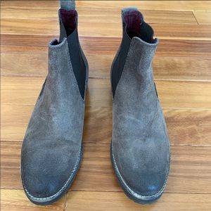 Barney's New York Taupe Suede Boot